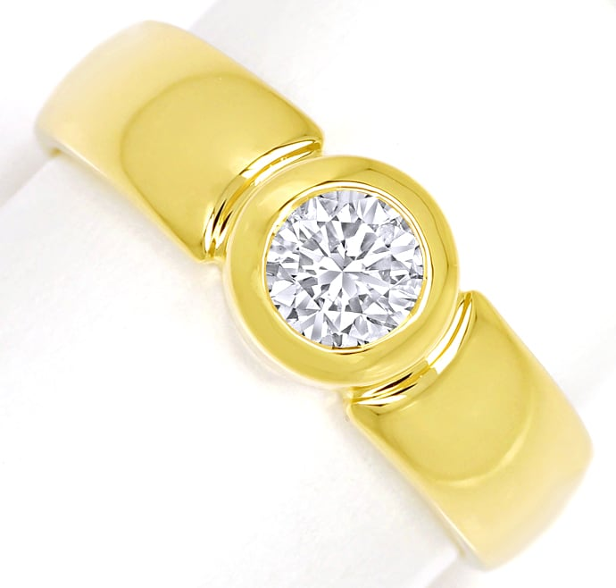 Foto 2 - Diamantbandring 0,51ct Brillant Solitär 18K Gelbgold, S2106