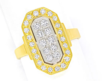 Foto 1 - Diamantring mit 0,63ct Diamanten in 750er Bicolor Gold, S2112