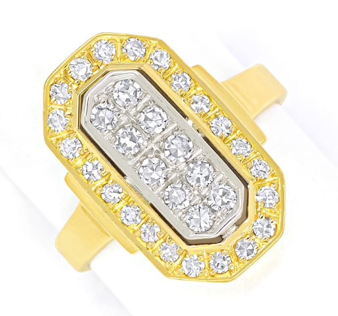 Foto 2 - Diamantring mit 0,63ct Diamanten in 750er Bicolor Gold, S2112