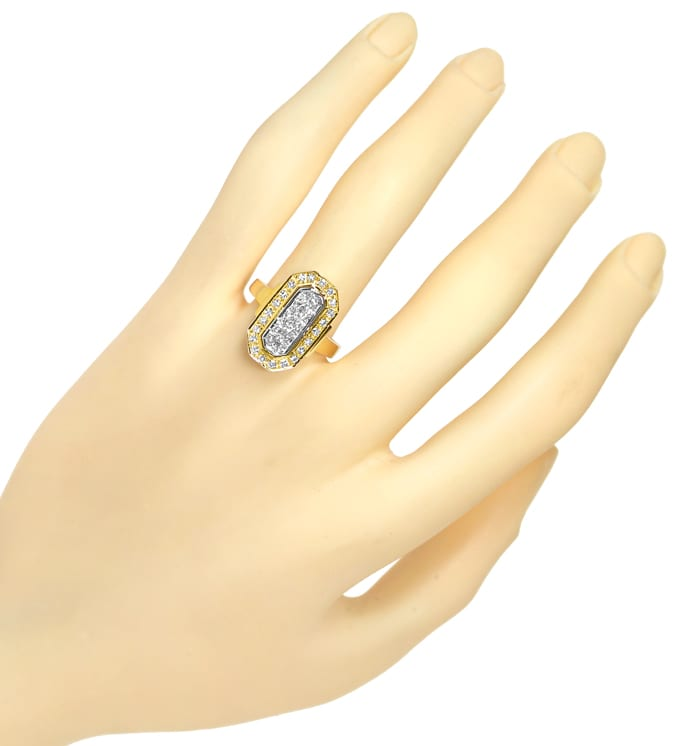 Foto 4 - Diamantring mit 0,63ct Diamanten in 750er Bicolor Gold, S2112