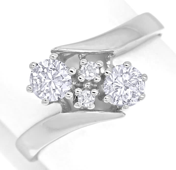 Foto 2 - Nobler Damenring 0,56ct Diamanten in 14K Weissgold, S2115