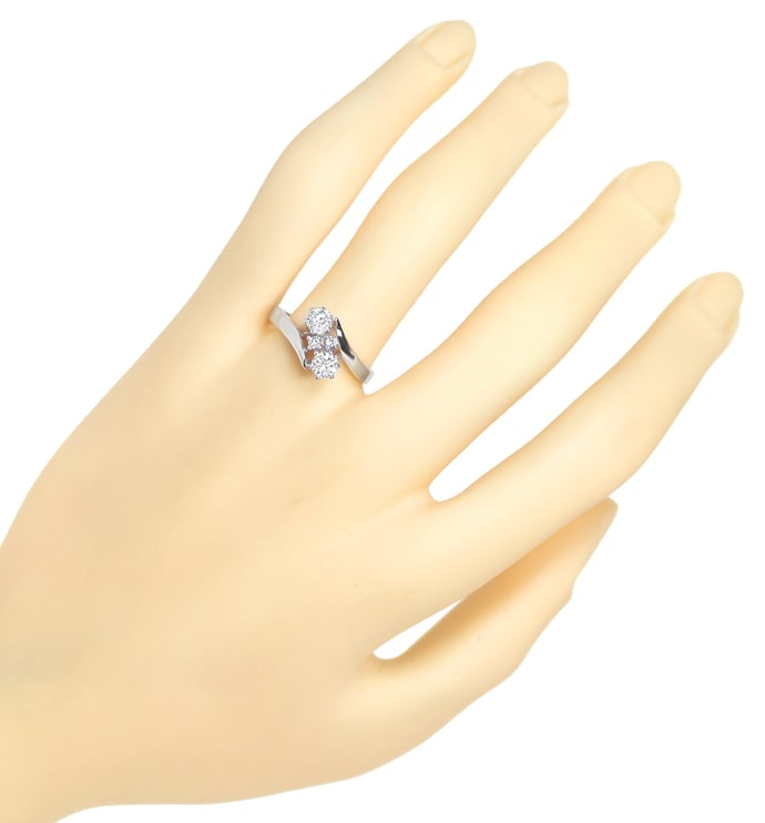 Foto 4 - Nobler Damenring 0,56ct Diamanten in 14K Weissgold, S2115