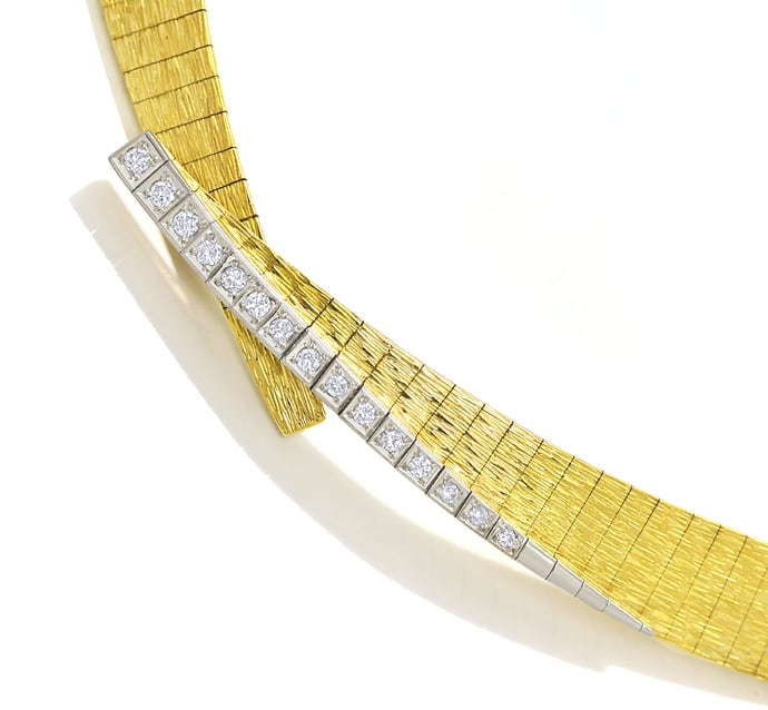 Foto 2 - Designer Collier mit 0,35ct Diamanten in 750er Gold, S2132