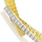 Designer Collier mit 0,35ct Diamanten in 750er Gold