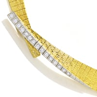 zum Artikel Designer Collier mit 0,35ct Diamanten in 750er Gold, S2132