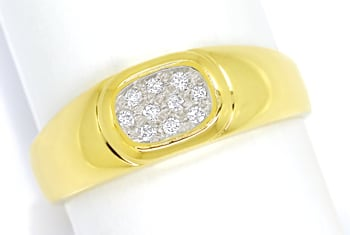 Foto 1, Diamantring mit 10 Diamanten Pavee in 14K Gold, S2147