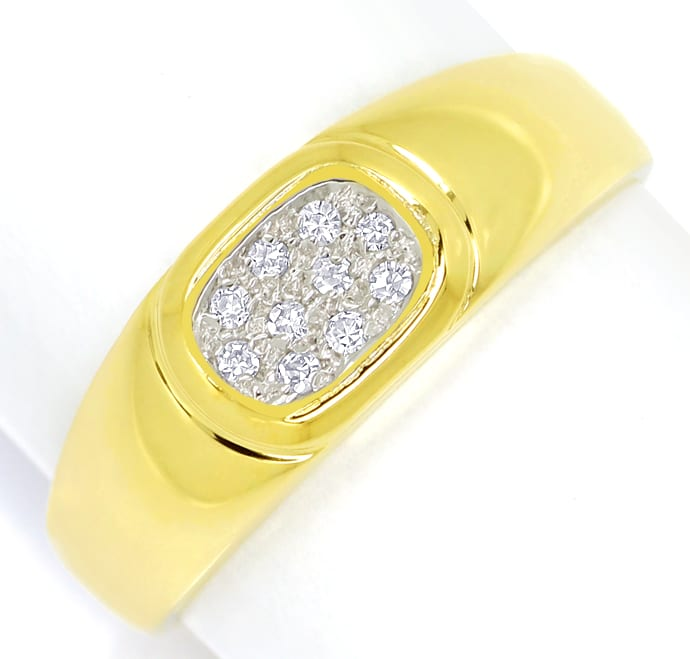 Foto 2 - Diamantring mit 10 Diamanten Pavee in 14K Gold, S2147