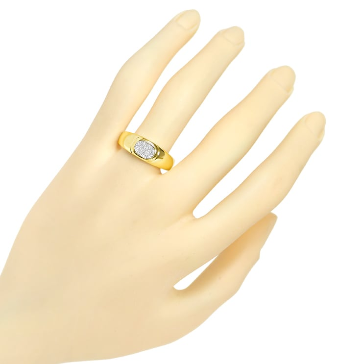 Foto 4, Diamantring mit 10 Diamanten Pavee in 14K Gold, S2147