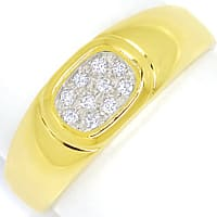 zum Artikel Diamantring mit 10 Diamanten Pavee in 14K Gold, S2147