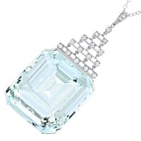 zum Artikel Antikes Collier sensationeller 147ct Aquamarin, S2175