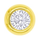 Brillant Solitäre Ohrstecker 0,36ct in 14K Gelbgold
