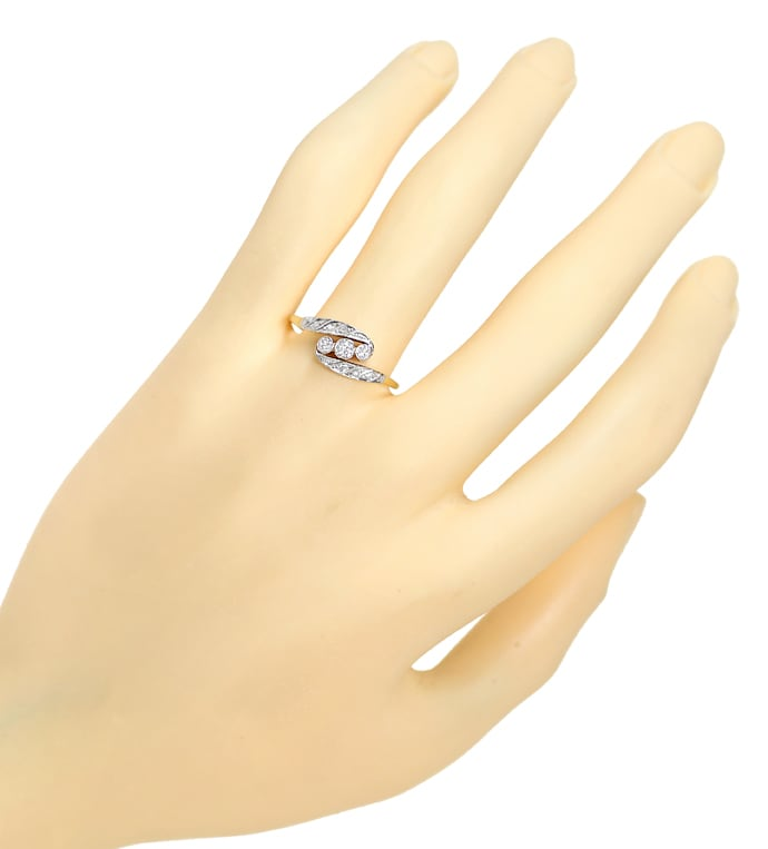 Foto 4 - Jugendstil Diamantring 0,20ct Diamanten in Gold Platin, S2200