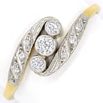 Jugendstil Diamantring 0,20ct Diamanten in Gold Platin