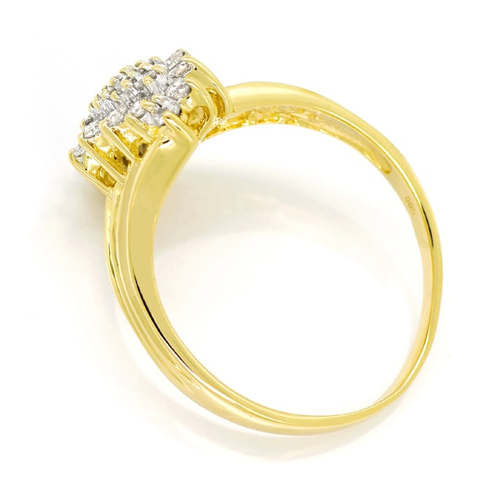 Foto 3 - Diamantring mit 0,50ct Brillanten in 14K Gelbgold, S2204