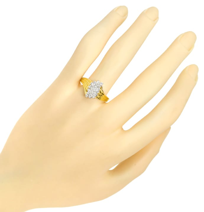 Foto 4 - Diamantring mit 0,50ct Brillanten in 14K Gelbgold, S2204