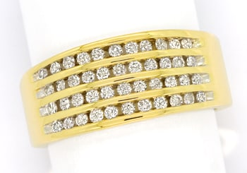 Foto 1, Eleganter Diamantring mit 0,50ct Brillanten in Gelbgold, S2219