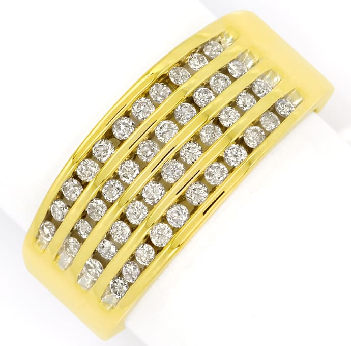 Foto 2, Eleganter Diamantring mit 0,50ct Brillanten in Gelbgold, S2219