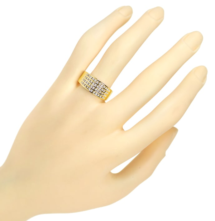 Foto 4 - Eleganter Diamantring mit 0,50ct Brillanten in Gelbgold, S2219