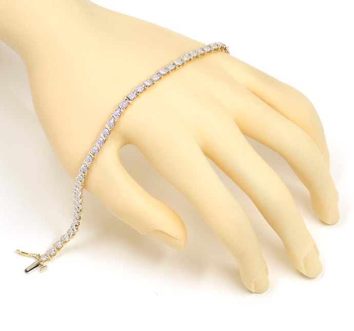 Foto 4 - Graziöses Tennisarmband mit 45 Diamanten in 14K Gold, S2225