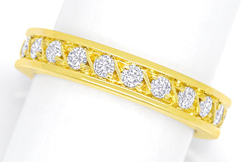 Foto 1 - Edler Vollmemory Diamantring 0,90ct Brillanten 18K Gold, S2251