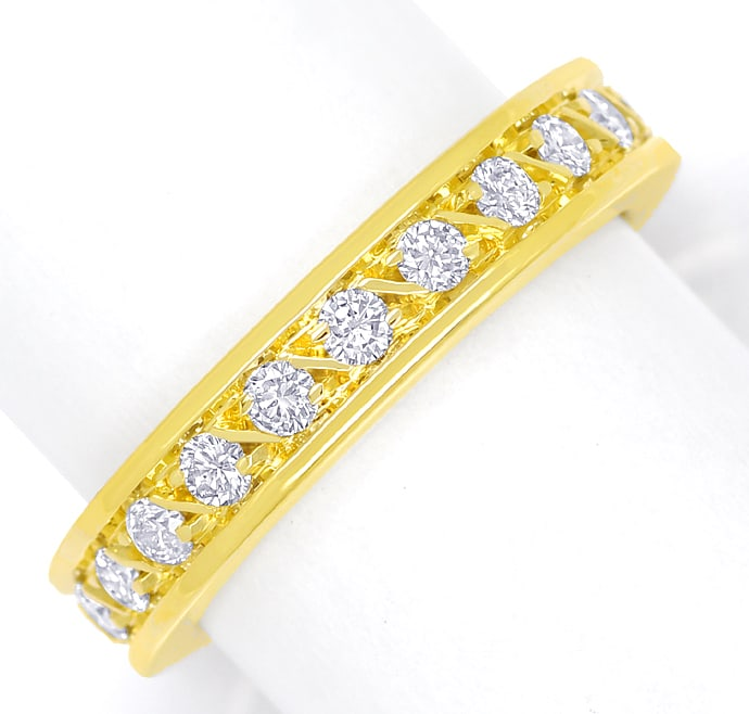 Foto 2 - Edler Vollmemory Diamantring 0,90ct Brillanten 18K Gold, S2251