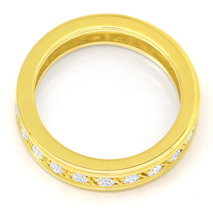 Foto 3 - Edler Vollmemory Diamantring 0,90ct Brillanten 18K Gold, S2251