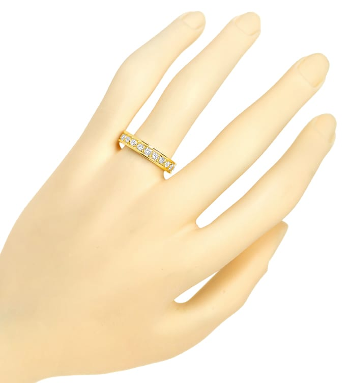 Foto 4 - Edler Vollmemory Diamantring 0,90ct Brillanten 18K Gold, S2251