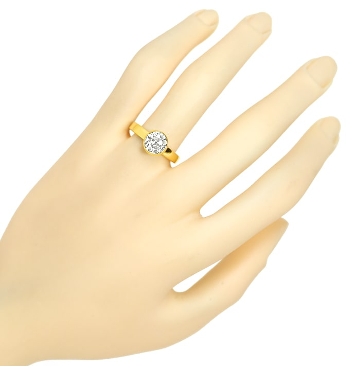 Foto 4 - Eleganter Solitärring mit 1,90ct Diamant in 18K Gelbgold, S2292