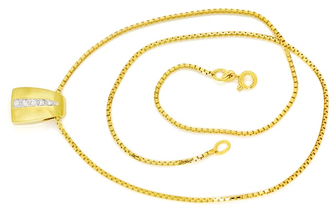 Foto 1 - Attraktives Collier mit Brillanten in 585er Gold, S2298