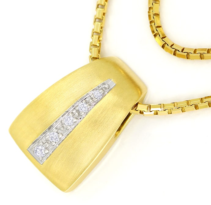 Foto 2 - Attraktives Collier mit Brillanten in 585er Gold, S2298