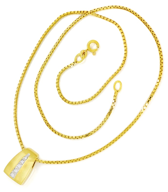 Foto 3 - Attraktives Collier mit Brillanten in 585er Gold, S2298