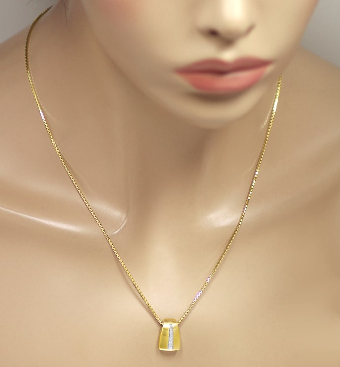 Foto 4 - Attraktives Collier mit Brillanten in 585er Gold, S2298