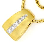 Attraktives Collier mit Brillanten in 585er Gold