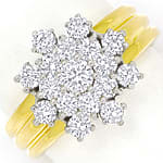 Herrlicher Diamantring 1,35ct Brillanten in 14K Gold