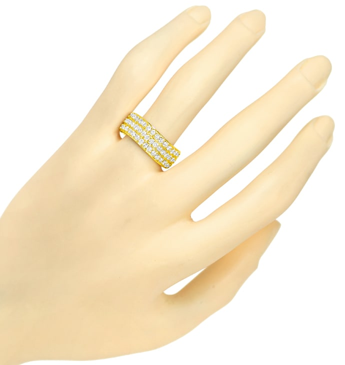 Foto 4 - Breiter Diamantring mit 1,23ct Brillanten in 585er Gelbgold, S2305