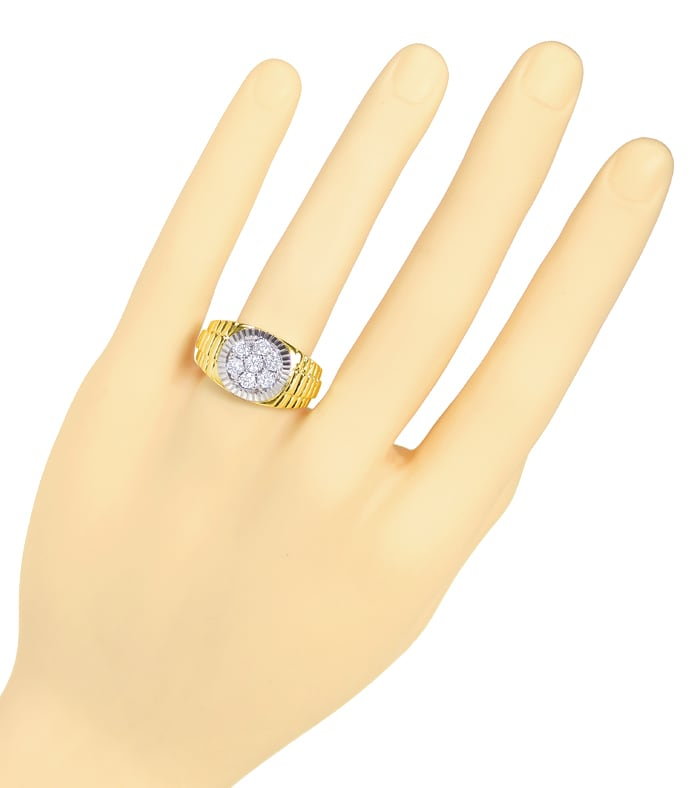 Foto 4 - Herren Diamantring mit 1,05ct Brillanten 14K Gold, S2310