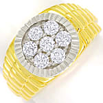 Herren Diamantring mit 1,05ct Brillanten 14K Gold