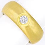Massivster Gelbgold Diamantring 0,26ct Brillant lupenrein