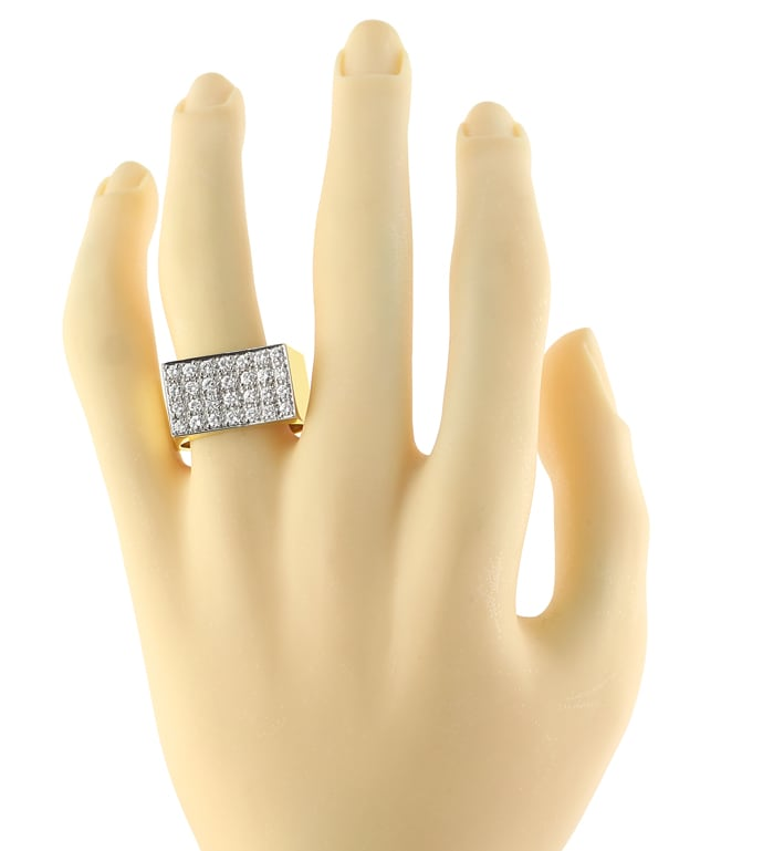 Foto 4 - Diamantring mit 1,08ct Brillanten Pavee in 18K Gold, S2315