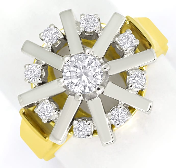 Foto 2 - Luxuriöser Damenring mit 0,65ct Brillanten in 14K Gold, S2316