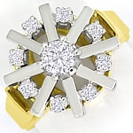 Luxuriöser Damenring mit 0,65ct Brillanten in 14K Gold