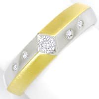 zum Artikel Designer Diamantring mit 0,18ct Brillanten in 14K Bicolor, S2319