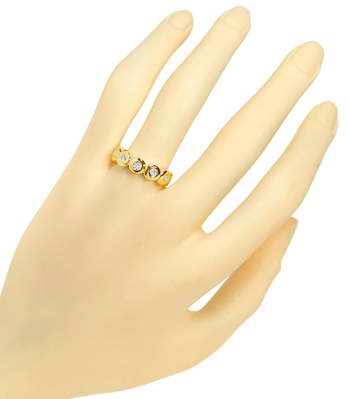 Foto 4 - Allianz Halbmemoryring mit 0,13ct Brillanten in 14K Gold, S2320