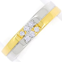 zum Artikel Markanter Designer Ring 6 Brillanten in Bicolor Gold, S2321