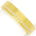 Modischer Diamantring 16 lupenreine Brillanten 18K Gold
