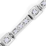 Nobles Diamant Armband 0,80ct Brillanten 18K Weissgold