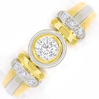 zum Artikel Bicolor Diamantring mit 0,29ct Diamanten in 18K Gold, S2372