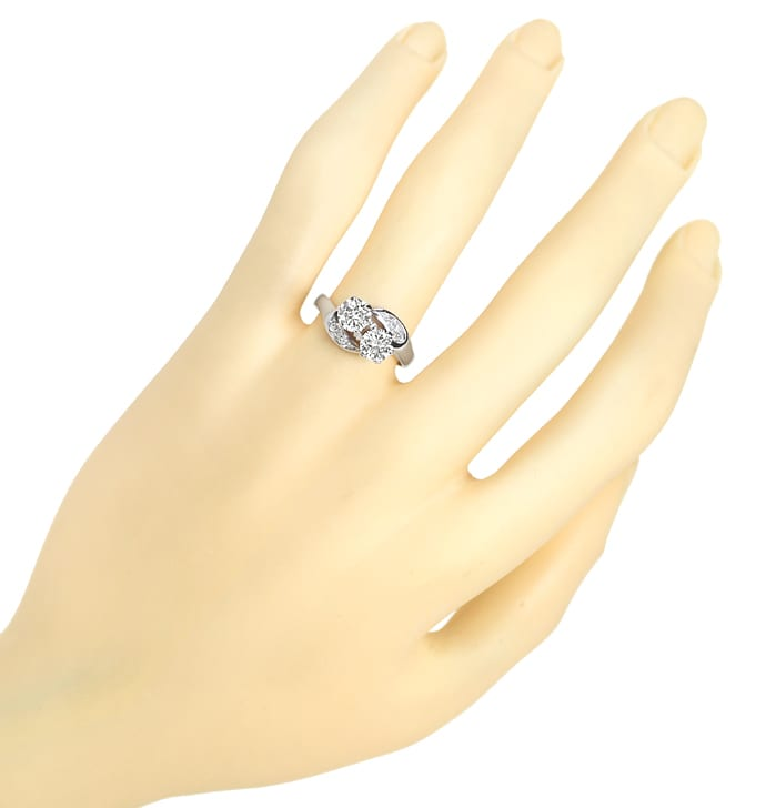 Foto 4 - Diamantring Toi et Moi 1,13ct Diamanten in Weissgold, S2373