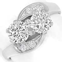 zum Artikel Diamantring Toi et Moi 1,13ct Diamanten in Weissgold, S2373