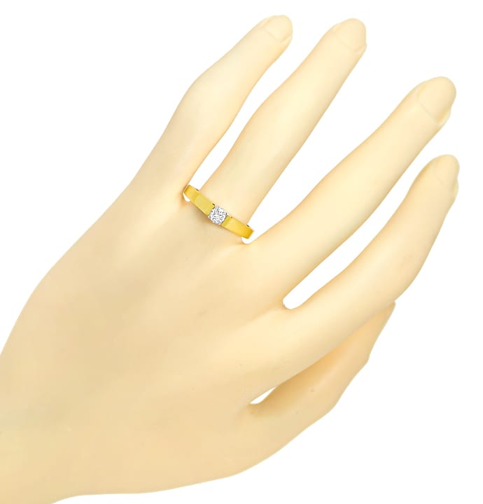 Foto 4 - Solitär Diamantring 0,24ct Brillant Super Farbe River D, S2412